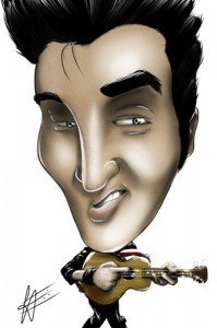 Cartoon Elvis