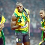 Usain Bolt after wining the 200m final