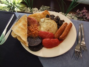A Full English with black pudding for the Tweeps