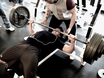 Career growth - Push Past Your Limits - Bench press