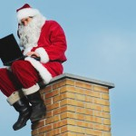 santa chimney laptop